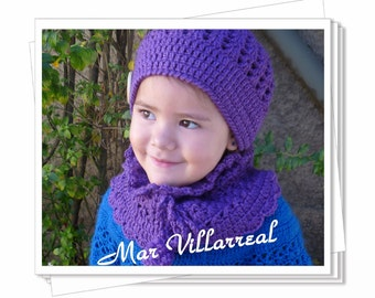 """Hat and neck warmer model """"Ale"""""""