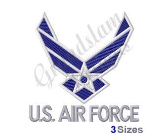 U.S. Air Force Logo - Machine Embroidery Design