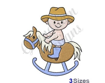 Baby Rocking Horse - Machine Embroidery Design