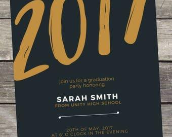 2017 Graduation Invitation