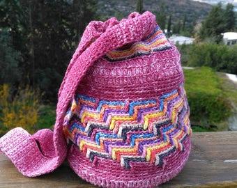 Handbag crochet. Cotton.