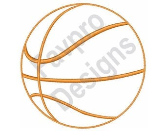 Basketball Outline - Machine Embroidery Design