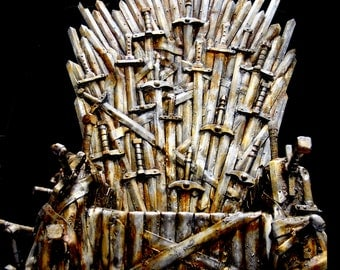 Realistic prop based on The Iron Throne  from the Game of Thrones