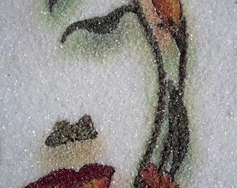 Handmade Gemstone Painting Image Pictures Made In Sri Lanka Original Gemstones Fast Shipping