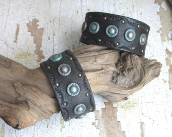 Leather Cuff Bracelet...upcycled, recycled