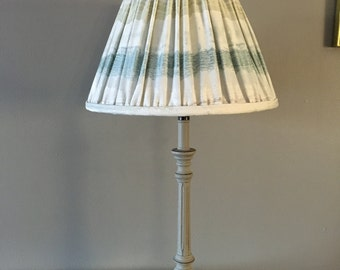 """Elegant and luxurious hand sewn 12"""" pleated lampshade"""