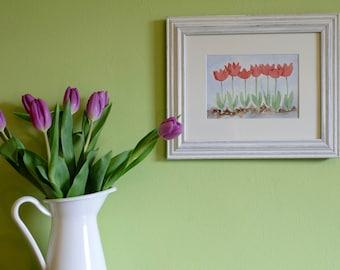 Tulips/ Watercolour Original Painting- Birthday Gift