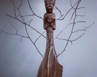 Handcrafted Wooden Statue of Morana Pagan Slavic Goddes