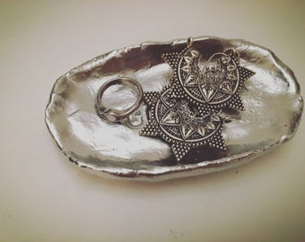 Jewelry shell silver / jewelry dish silver