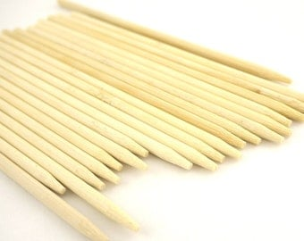 300 Bamboo Wood Candy Apple Sticks Caramel Apple Skewers