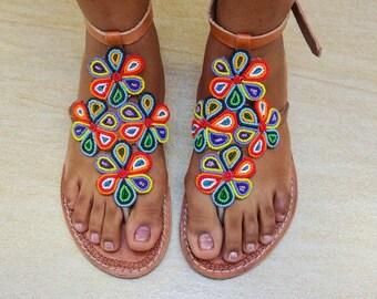 Flower Maasai Sandals