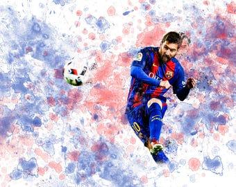 "Lionel Messi FC Barcelona 19"" W x 13"" H Poster"