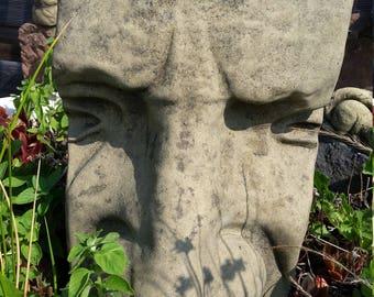 H 51 art antique sandstone look MOAI Easter Island sculpture head