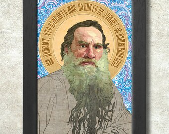 Leo Tolstoy Poster Print A3+ 13 x 19 in - 33 x 48 cm  Buy 2 get 1 FREE