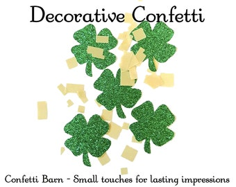 50 Four Leaf Clover Decorative Party Confetti PLUS Gold Scatter Confetti - St. Patrick's Day - Party Embellishments - Saint Paddy's Day #9