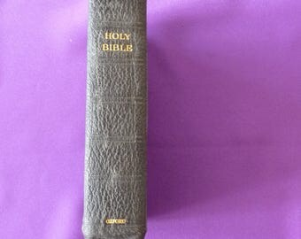 Vintage leather bound Holy Bible