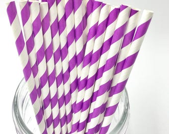 Deep Purple Paper Straw Pack