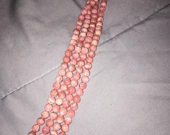 Pink Rhodochrosite 5-6mm