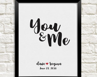 You & Me Personalized Art