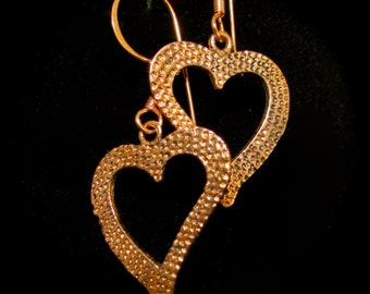 Copper Hearts Earrings