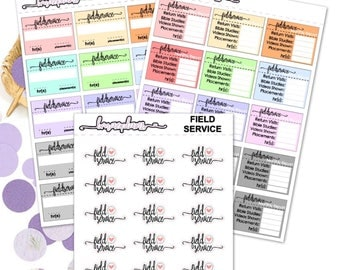 Field Service/Meeting/Personal Study - Fuctional Planner Stickers Hapoy Planner Erin Condren
