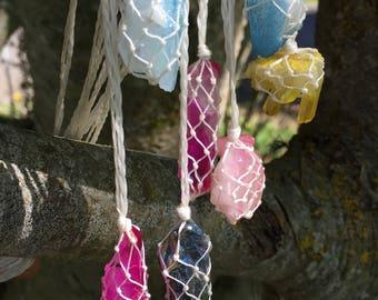 Rainbow Flame Aura Quartz Necklaces
