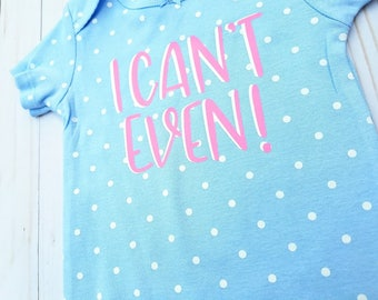 Funny Onesie, Infant Bodysuit, Toddler Onesie, Baby girls outfit, Blue, white Polka Dots, Pink, Cute sayings, Sassy Quote, Southern Belle