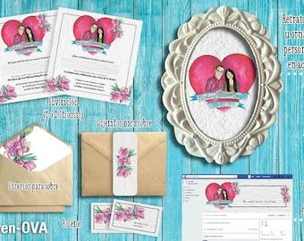 Kit wedding invitation