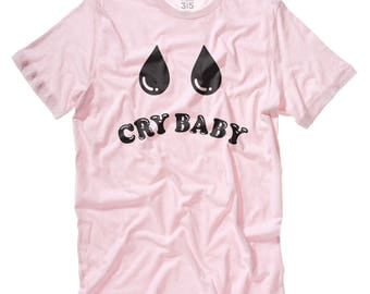 Cry Baby t-shirt in soft pink