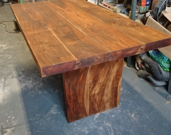 Solid Reclaimed Tropical Hardwood Hand Made Dining Table