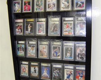Baseball, Football, Sports Card Display case, Display case for Graded Sports cards, PSA, Beckett graded cards