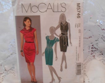 Womens PLUS SIZE dress patterns, sleeveless dress pattern, summer dress patterns, McCalls 5746 pattern, sewing supplies, paper patterns