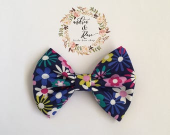 Sunflowers in Colors Bow | Hair Clip