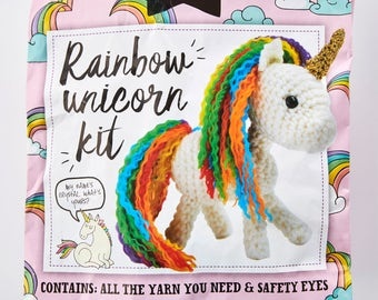Rainbow Unicorn Kit, Simply Crochet, Unicorn Crochet, Craft Kit, Crochet Tutorial, Crochet Pattern, Amigurumi Kit, Limited Edition, Craft