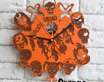 Suicide Squad Harley Quinn Joker clock Katana Margot Robbie El Diablo Deadshot cosplay Rick Flag Captain Boomerang Killer Croc mask slipknot