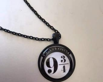 Harry Potter Platform 9 3/4 necklace, Harry Potter necklace, Platform 9 3/4, Harry Potter Jewellery