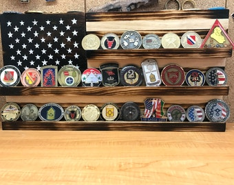 "US Flag Coin Display (9.75"" x 18.5"")"