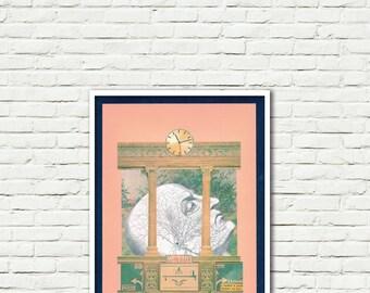 Lifetime-print-Pop Art-Surreal (paper, vintage clippings, glue)