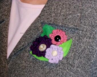 Crochet Floral Corsage