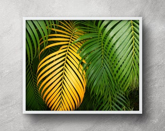 Banana leaf printable Palm leaf wall decor Banana leaf