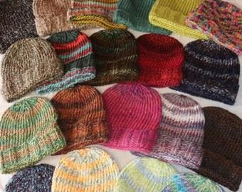 Big Knit Cuffed Slouch Hat