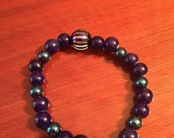 Blue Mystic Handmade Beaded Bracelet