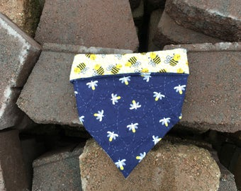 MasonBee, dog bandana, dog scarf, bee bandana, dog neckwear, dog fashion
