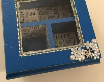 LOVE Blue Jewellery Box