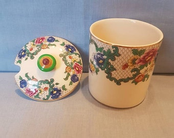 "Royal Cauldon ""Victoria"" 1950s Jam Pot"