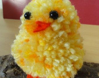 Easter chick Pompon 6.5 cm