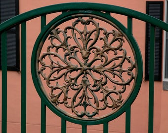 Photograph of decorative fence work in Charleston
