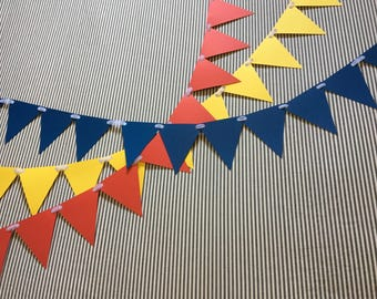 Circus Banners - Red, Yellow, and Blue Banner - Colorful Banner - Circus Party - Three Strands of Red, Yellow, and Blue
