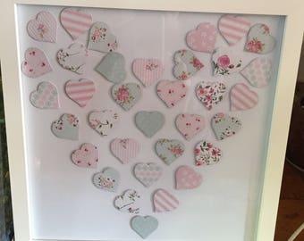 Pastel Hearts Framed