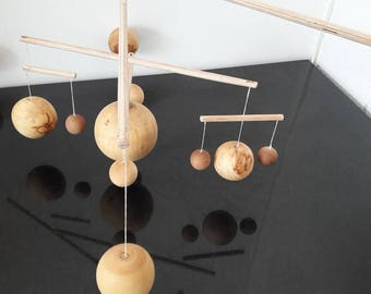 Mobile solar system with Sun and eight planets-Windspiel-